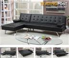 Adjustable Chaise Black Quality Sofa Bed
