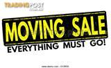 MASSIVE MOVING SALE - Saturday 6th May, 8am - 3pm, Lilli Pilli