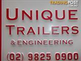 BOX TRAILERS ALL SIZES BY,  UNIQUE TRAILERS & ENGINEERING