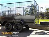 BOX TRAILER  9 x 5 Tandem Trailer with Cages.