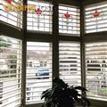 White Plantation Shutter for Edwardian Bay Window