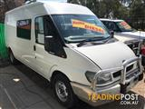 FORD TRANSIT LWB 6 SEATER TURBO DIESEL, WITH BED AND STORAGE AREA