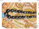 Genuine Tahitian black pearls necklace 13,89 mm to 11mm