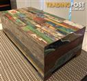 One Of A Kind Distressed Reclaimed Wood Coffee Table