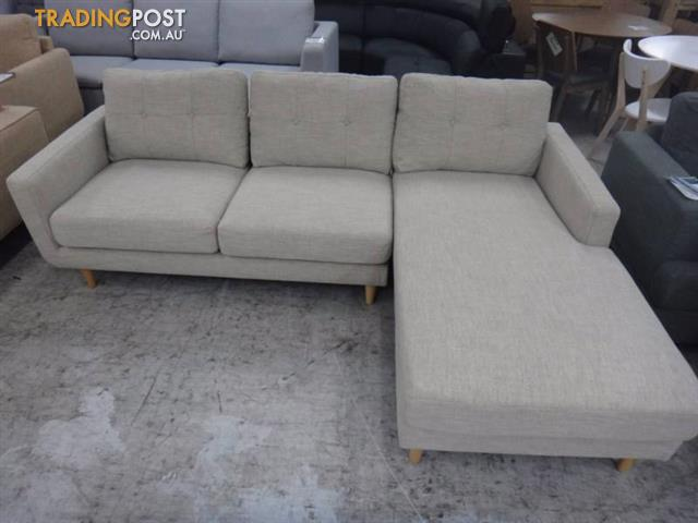 new stockton fabric sofa w chaise discount showroom - Chaise Discount
