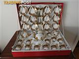 24 carat gold plated coffee set.