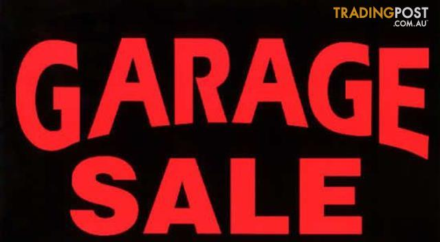 Sat 21 Jan garage sale - 95 Blandford St, Grange - 7am to 2pm