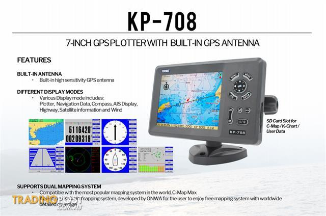 On SALE AUversion Inch GPS Chart Plotter With AUS Coast Line - Map plotter free