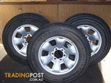 Toyota Prado 120 Series Steel Wheels and Tyres
