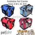 S M L XL XXL Red Pet Portable Dog Cat Car Carrier Travel Kennel 2