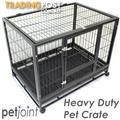 Solid Metal HeavyDuty Pet Crate Cage Dog Cat Hamster Kennel House