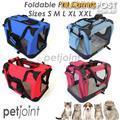S M L XL XXL Red Pet Portable Dog Cat Car Carrier Travel Kennel 2 www.petjoint.com.au