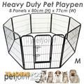 Heavy duty Pet Puppy Dog Play Pen Enclosure Cage Kennel Run Fence