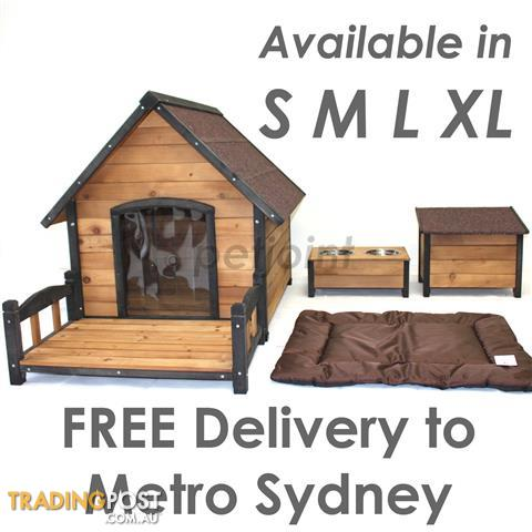Premium Wooden Pet Dog Kennel Timber Wood Large Outdoor House sd1 www.petjoint.com.au