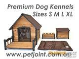 Wooden Kennel Pet Puppy Dog House Log Timber Home Indoor Outdoor