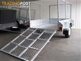 RAMP TRAILER cage 7x5 galvanised FULLY WELDED