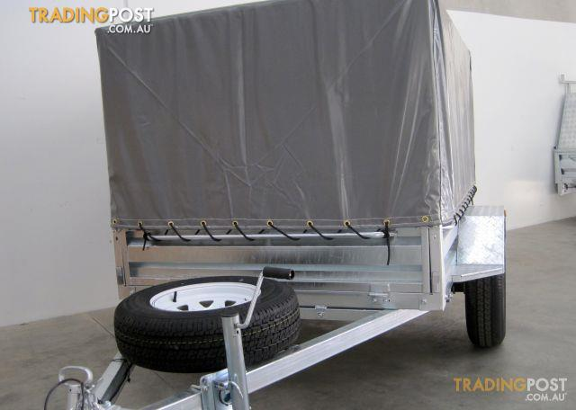 Box Trailer With Cage 7x5 Galvanised In Melbourne For