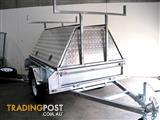 7x5  TRADESMAN ALUMINIUM TOP AND GALVANISED TRAILER