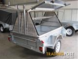 ALUMINIUM TOP TRADESMAN TRAILER GALVANISED 6X4