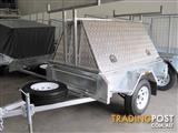 6X4 TRADESMAN ALUMINIUM TOP AND GALVANISED TRAILER