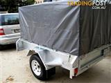 TRAILER TRAILER GALVANISED7X5 WITH COVER