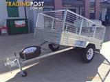 box cage trailer  7*5 tipping fully galvanized