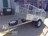 box cage traiiler 8*5 tipping fully galvanized