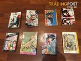 Various manga books