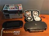 PSP + 8 Games + Case + Disc Case