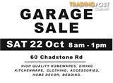 CHADSTONE GARAGE SALE - TOMORROW SAT 22 OCT!