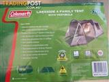 COLEMAN Lakeside 4 Family TENT with Vestible
