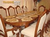 GRAND DINING Extension Table with 10 Chairs