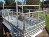 8x5 Tandem Trailer with Cage & Builders Racks Hot Dipped Galvanized Tandem Trailer