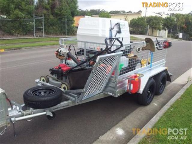8x5 Tandem Mower Trailer Package Includes Jerry Can