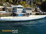 Etchells 22 - 30 feet , Fibreglass, deep fin keel sloop with skeg-mounted rudder