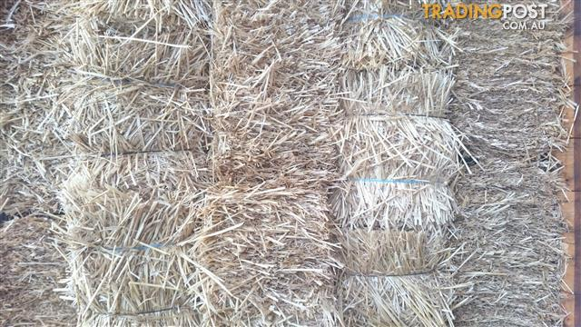 Small squares of wheat straw