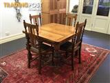 Antique 19 century French oak dining table,chairs & coffee table.