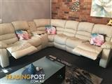 Glory Ivory 7 seater Corner + Consol  + 2 Recliners suite.