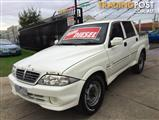 2004 SSANGYONG MUSSO SPORTS (4x4) DUAL CAB P/UP