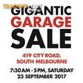 GIGANTIC GARAGE SALE - 419 City Road, South Melbourne - Saturday 23 Sep -7:30am-5:00pm