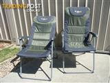 Pair of Oztrail RESORT 5 Reclining camp chairs for sale