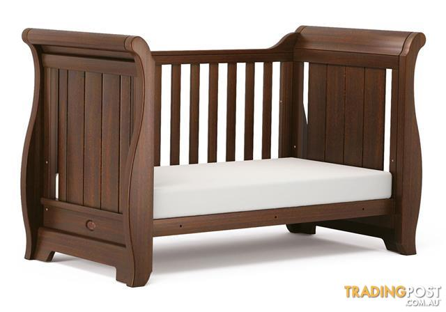 Boori Sleigh Collection Dark Oak Cot Bed AND Change Table