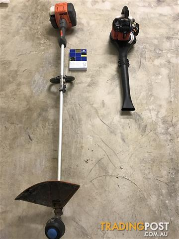 Husqvarna straight shaft trimmer & Homelite blower