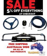 Hydraulic Outboard Motor Steering Kit up to 150HP | Claim Deal Now with  Auto Savings checkout Offer