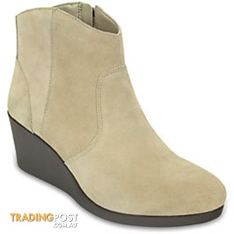 CROCS - LEIGH SUEDE WEDGE BOOT - BRAND NEW WITH TAGS   RRP $129.95