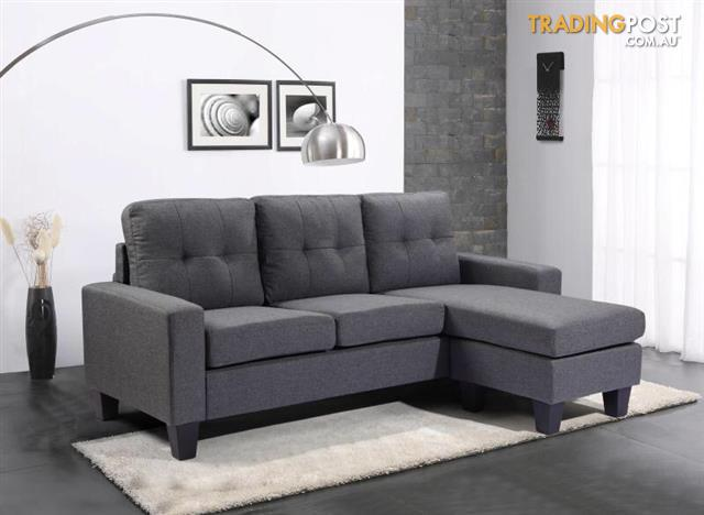 Modern-Fabric-Corner-Sofa-Bed-3-Seater-Lounge-Suite-Couch-GREY