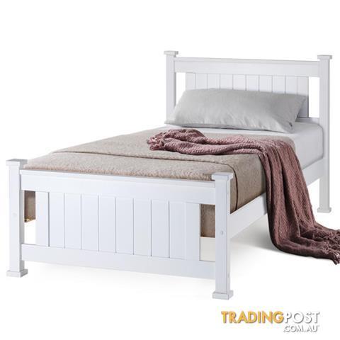 Kingston-Slumber-Single-Wooden-Bed-Frame-Base-White-Pine-Adult ...