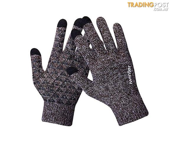 Winter Touch Screen Gloves for Men Knit Wool Lined Texting Touchscreen Thermo DE