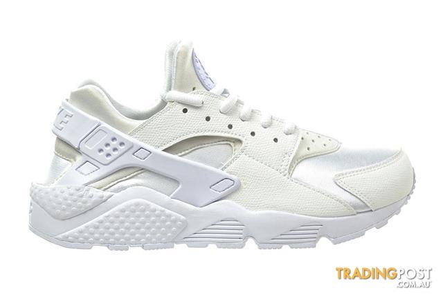 check out 7c86a 7b59d Nike Women s Air Huarache Run Running Shoe (Triple White, Size 9.5)