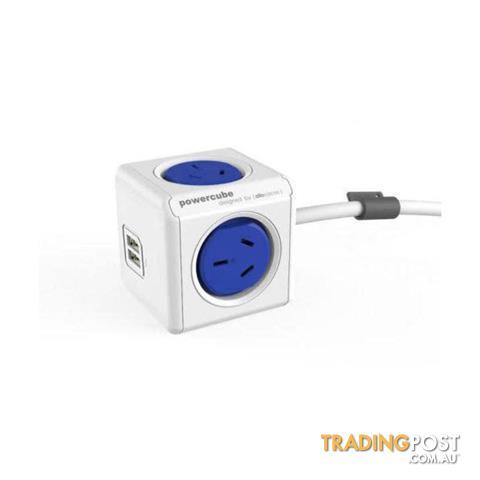 Blue-Powercube-4-Socket-Mountable-Power-Board-Extended
